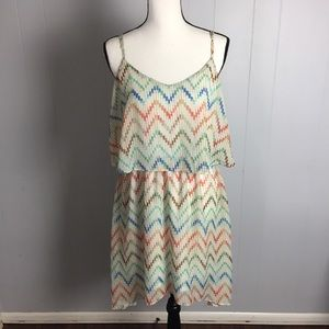Rue 21 High-Low Chevron Boho Dress-XL